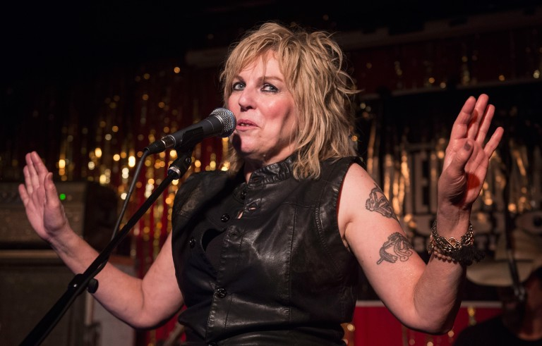 NASHVILLE, TN - SEPTEMBER 17:  Lucinda Williams performs with Buick 6 at the Stone Fox on September 17, 2015 in Nashville, Tennessee.  (Photo by Erika Goldring/Getty Images for Americana Music)