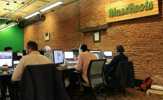 """Massroots Inc., a """"technology platform for the cannabis industry,"""" filed IPO papers today to be NASDAQ's first publicly traded marijuana-related company. Photo courtesy of MassRoots"""