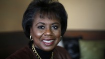 """Anita Hill, the subject of the film """"Anita"""" poses for a photo during the Sundance Film Festival in Park City, Utah, January 21, 2013.  REUTERS/Jim Urquhart (UNITED STATES - Tags: PORTRAIT ENTERTAINMENT) - RTR3CT1R"""