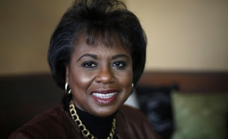 "Anita Hill, the subject of the film ""Anita"" poses for a photo during the Sundance Film Festival in Park City, Utah, January 21, 2013.  REUTERS/Jim Urquhart (UNITED STATES - Tags: PORTRAIT ENTERTAINMENT) - RTR3CT1R"