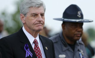 "Mississippi, Governor Phil Bryant on Tuesday signed into law the ""Religious Liberty Accommodations Act,"" which allows businesses and individuals to reject services to gay couples based on religious beliefs. Here, Bryant is seen attending B.B. King's funeral in Indianola, Mississippi     REUTERS/Mike Blake"