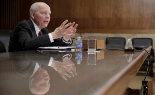 IRS Commissioner John Koskinen testifies at a Senate Appropriations Subcommittee hearing on the FY2017 budget for the Treasury Department on Capitol Hill in Washington March 8, 2016.      REUTERS/Joshua Roberts - RTS9UT4