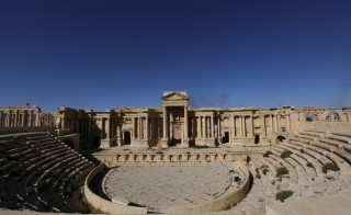 "A view shows the Roman Theatre in the historical city of Palmyra, in Homs Governorate, Syria April 1, 2016. REUTERS/Omar Sanadiki  SEARCH ""PALMYRA SANADIKI"" FOR THIS STORY. SEARCH ""THE WIDER IMAGE"" FOR ALL STORIES - RTSD6WH"