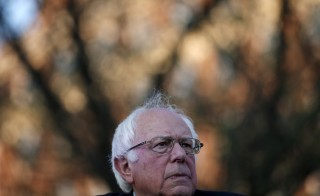 Sen. Bernie Sanders speaks at a campaign rally in New Haven, Connecticut, Sunday. Photo by Mike Segar/Reuters