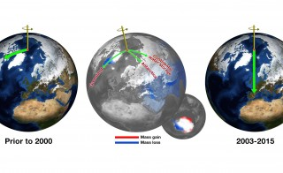 NASA scientists claim climate change is shifting the Earth's poles. Photo by NASA/JPL-Caltech