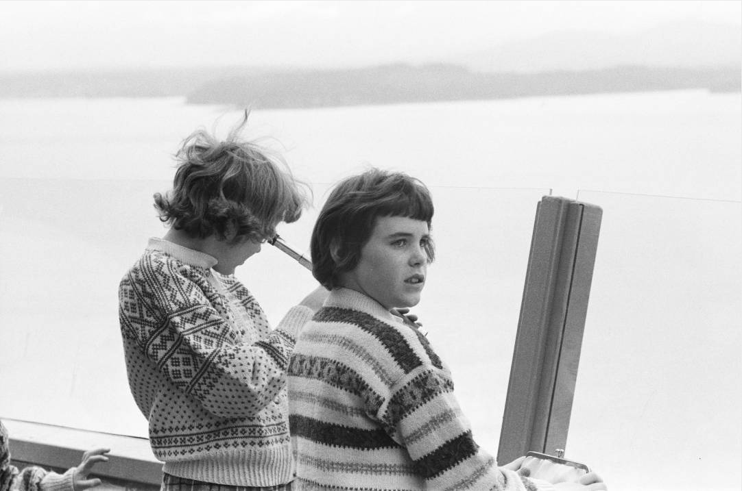 Girls on Space Needle observation deck, 1962. Workers preparing ground for Space Needle foundation, ca. April 1961. Photo by by George Gulacsik, image courtesy of the Seattle Public Library
