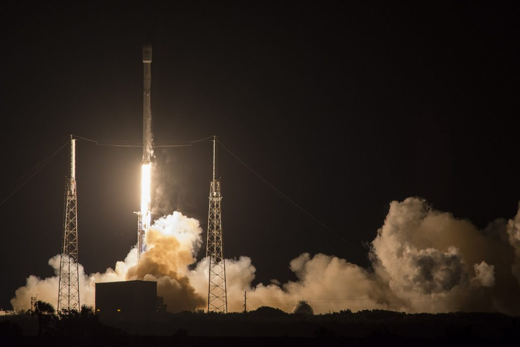 SpaceX launches JCSAT-14 satellite onboard a Falcon 9 rock on May 16, 2016. Photo by SpaceX/via Flickr
