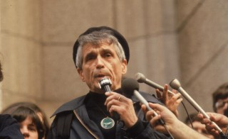 American political and social activist and Roman Catholic priest Rev. Daniel Berrigan died Saturday April 30, 2016 in New York City at the age of 94.  Berrigan is shown here speaking 1981. He and eight others others, including his brother,  were sentenced to federal prison for burning draft documents in protest of the Vietnam War. Photo by Bernard Gotfryd/Getty Images)