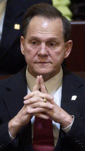 Justice Roy Moore in 2003. Photo by Mickey Welsh/Reuters