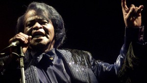 U.S. legendary singer James Brown and so-called Godfather of soul, performs during a concert in downtown Naples 22, July 2003. Brown is on tour promoting his latest album - the soundtrack to the new Rocky movie staring Silvester Stallone. REUTERS/Mario Laporta  DJM - RTRVEQ