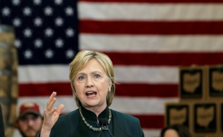 Democratic presidential candidate Hillary Clinton speaks at a campaign event in Athens, Ohio. Photo by Jim Young/Reuters