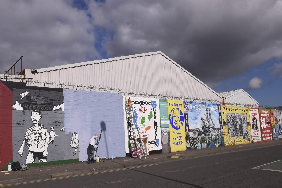 These murals lie at the center of a debate over Northern Ireland's