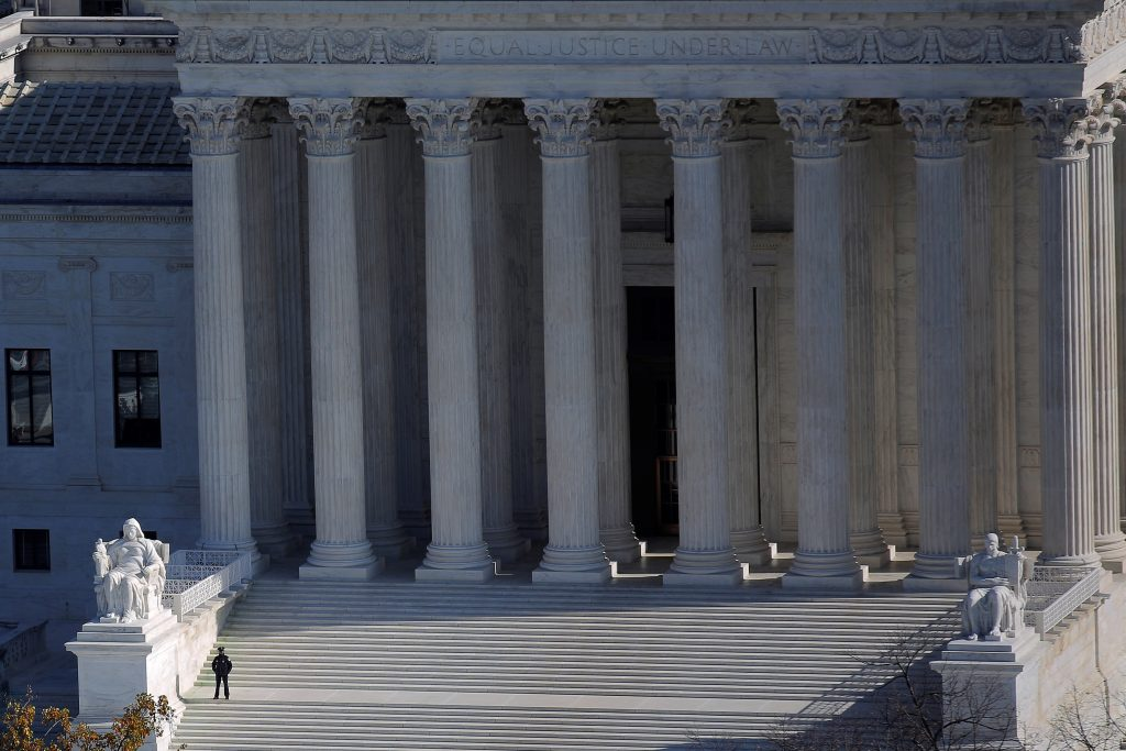 The U.S. Supreme Court building is pictured in Washington, D.C. Photo by Carlos Barria/Reuters