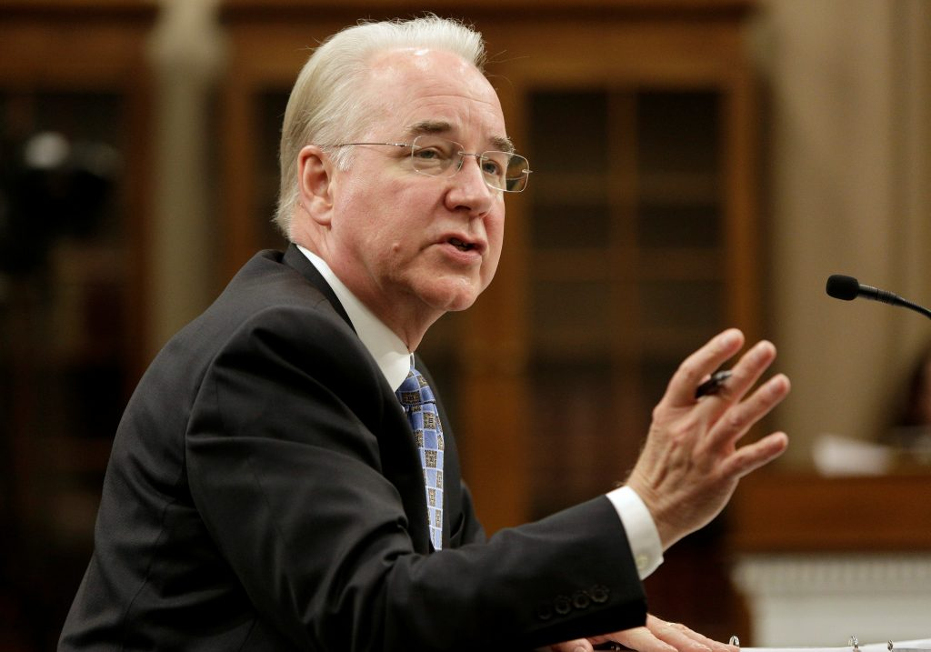 Secretary of Health and Human Services Tom Price testifies on Fiscal Year 2018 Budget Blueprint before the Committee on Appropriations at the U.S. Capitol in D.C. Photo by Joshua Roberts/Reuters