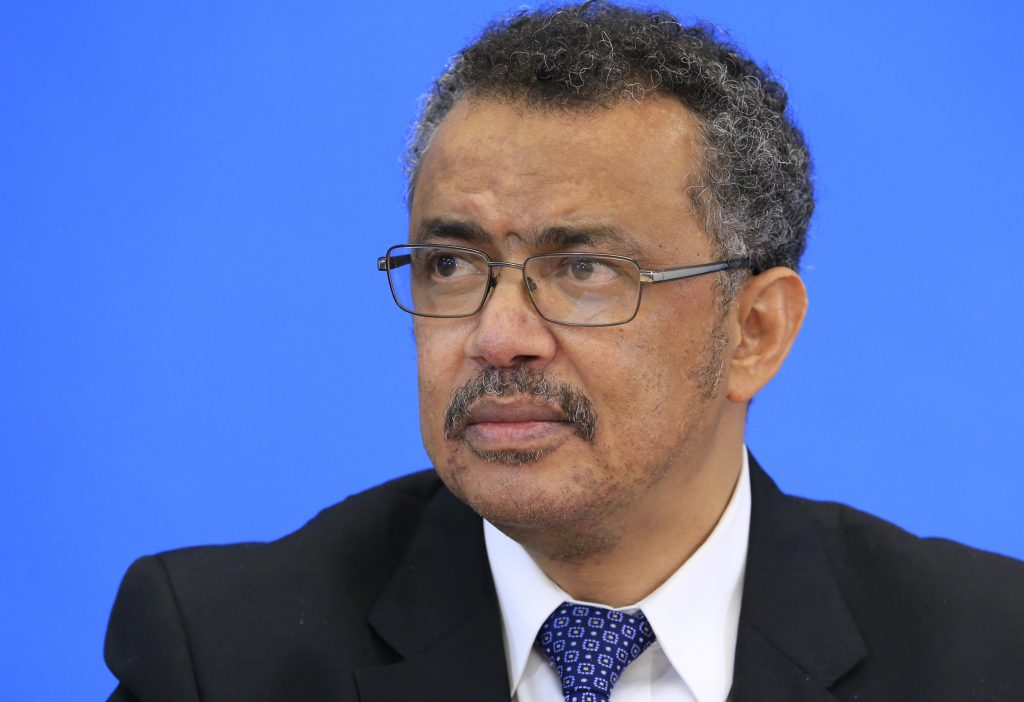 Tedros Adhanom Ghebreyesus, candidate for Director General of the World Health Organisation, attends a news conference at WHO headquarters in Geneva, Switzerland, January 26, 2017. Photo by  Pierre Albouy/REUTERS