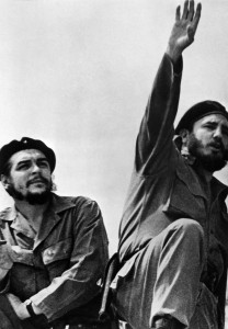 """Fidel Castro, right, and Ernesto """"Che"""" Guevara in a picture taken in the early 1960s. Photo by OFF/AFP/Getty Images"""