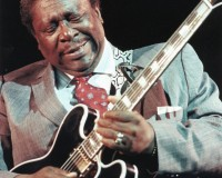 B.B. King performs during a jazz festival at Prague's Palace of Culture in December 1990. Photo by Reuters