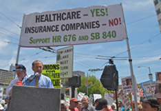 Health care for all protest, Photo by Steve Rhodes (flickr)