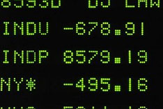 Markets close on Oct. 9, 2008; AP photo