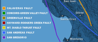 Online NewsHour: Map: Major Bay Area Faults   The 1906 San Francisco ...