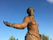 This Harriet Tubman statue was created by Dr. James Hill of the Salisbury University Art Department. It is currently on display at Salisbury University.