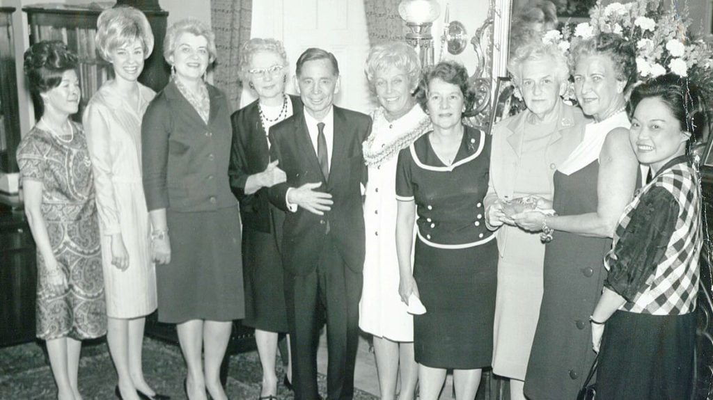 Patsy Mink and others pose for a picture