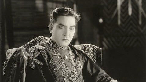 Sessue Hayakawa costumed as the Prince of the Island of Desire