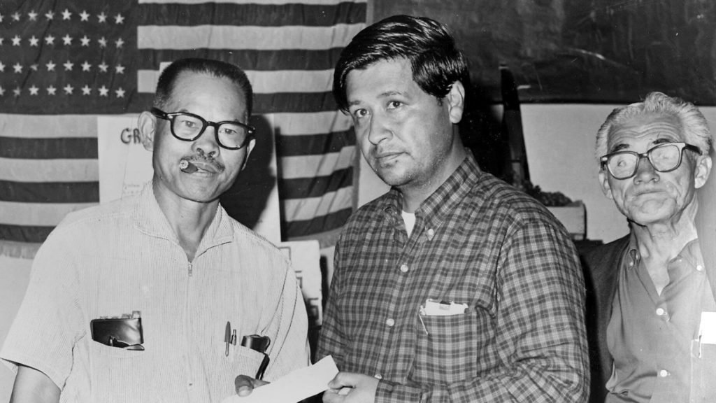Larry Itliong and Cesar Chavez