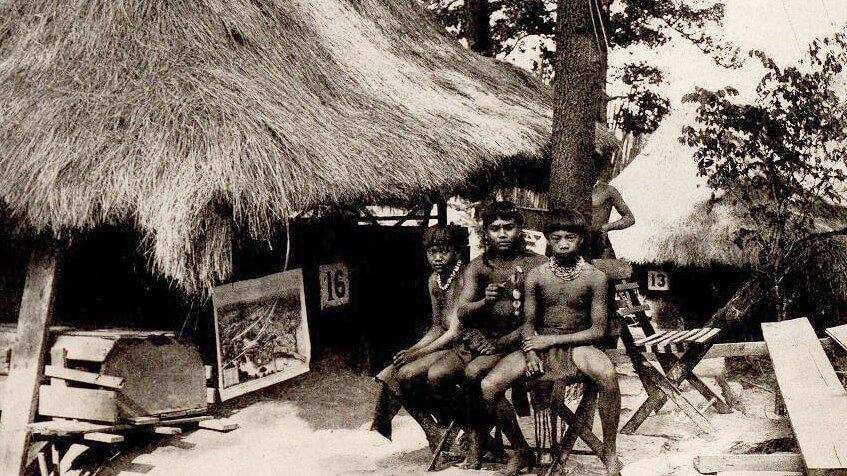 Antero Cabrera 'at home' at the 1904 World's Fair
