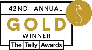 42nd Telly Winners gold winner badge