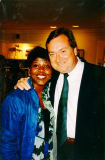 Gwen Ifill with Tim Russert