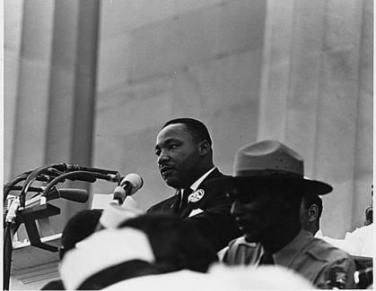 Martin Luther King speaking at the March on Washington