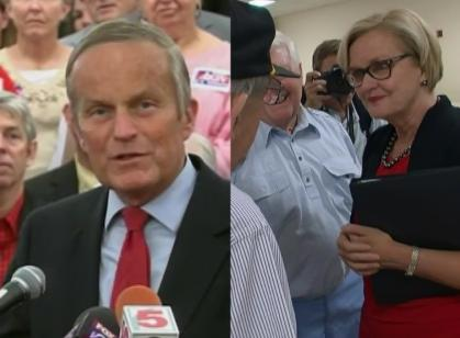 Todd Akin and Claire McCaskill