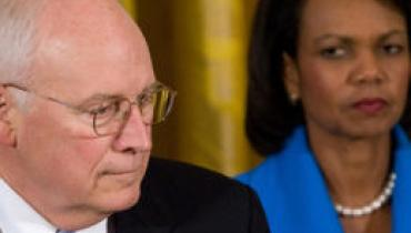 Dick Cheney and Condoleezza Rice
