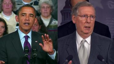 President Obama and Senate Minority Leader Mitch McConnell