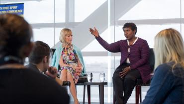 Gwen Ifill and Judy Woodruff Speak to Young Journalists