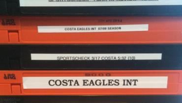 Costa's video tapes from his coverage of the Philadelphia Eagles for PHS-TV