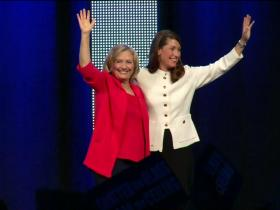 Hillary Clinton and Alison Lundergan Grimes