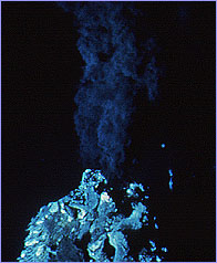 Black smoker erupting on the Juan de Fuca Ridge