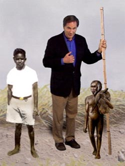 Robert Kulwich with african pygmy