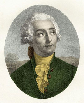 Painted portrait of Antoine-Laurent Lavoisier.
