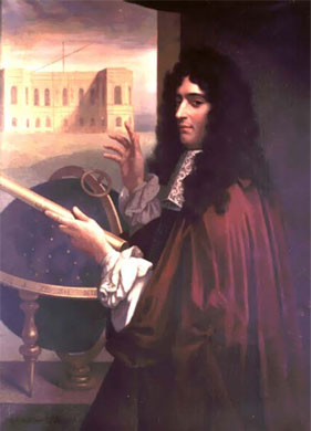 Painted portrait of Cassini.