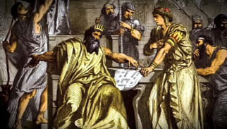 A painting of King Solomon.