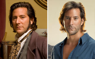 Cusick as Charles Darwin and Desmond Hume