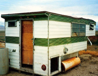 Dr.Q's first home in America: A leaky trailer