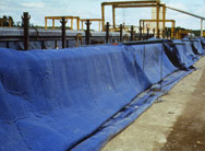 tarp over concrete