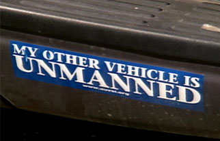 A bumper sticker that reads: