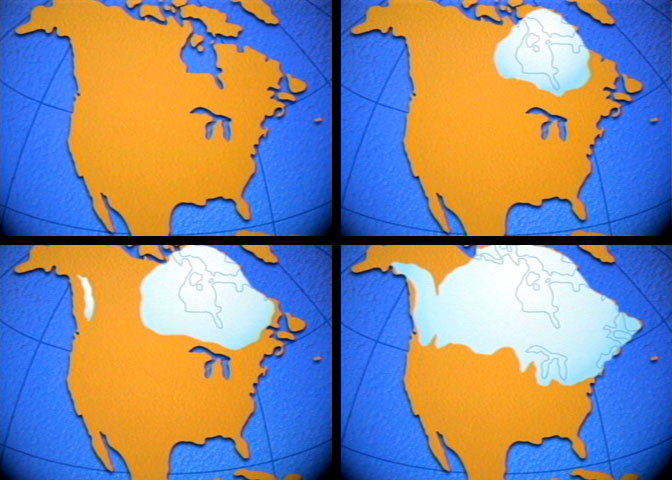 NOVA Official Website What Triggers Ice Ages - Map of how last ice age affected us
