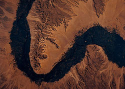 Satellite image of Nile River