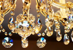 crystal glass chandellier